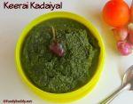 Araikeerai Kadaiyal / Keerai Kadaiyal Recipe