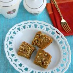 Eggless carrot walnut cake