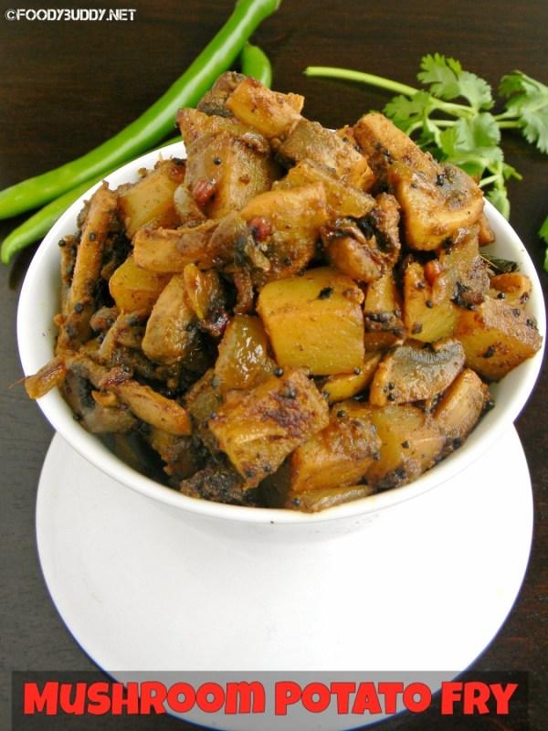 mushroom potato fry