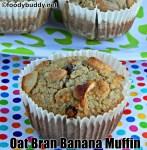 Oat Bran Banana Muffins Recipe / Oat Bran Muffin