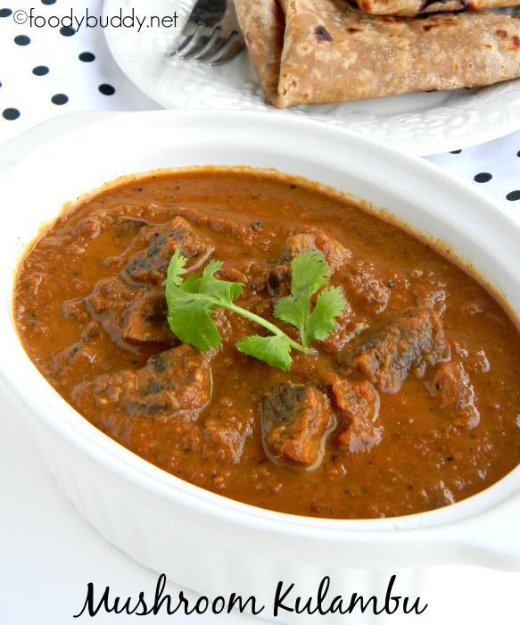 Mushroom Kulambu Recipe / Kalan Kuzhambu (Coimbatore Style)
