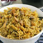 Mint Mushroom Biryani Recipe / Easy Mint Biryani