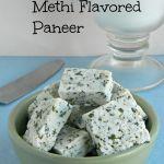 Homemade Methi Flavored Paneer / How to make flavored paneer using yogurt