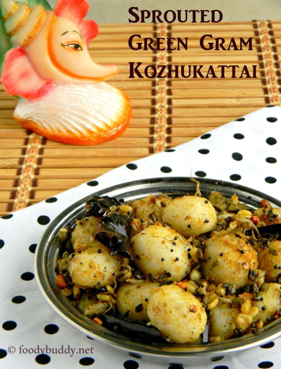sprouted green gram mani kozhukattai recipe