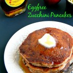Eggless Whole Wheat Zucchini Pancakes