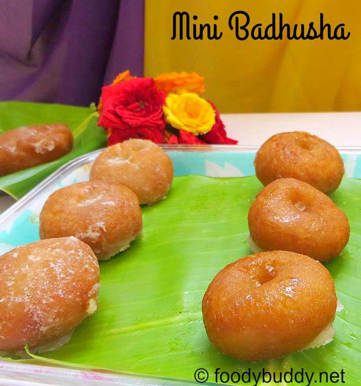 Mini Badhusha Recipe / Diwali Sweet Recipe