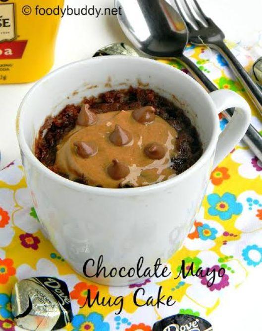 eggless chocolate mayo mug cake recipe