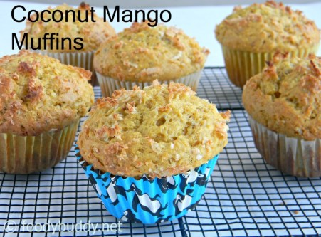 easy mango coconut muffins recipe
