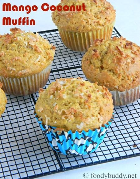easy mango coconut muffins recipe