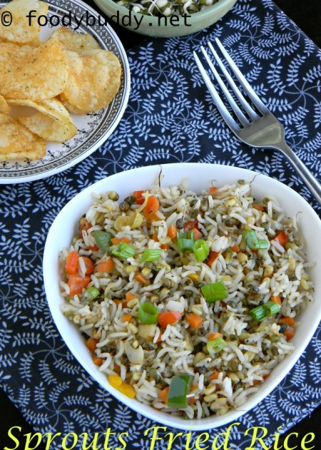 sprouts vegetable fried rice