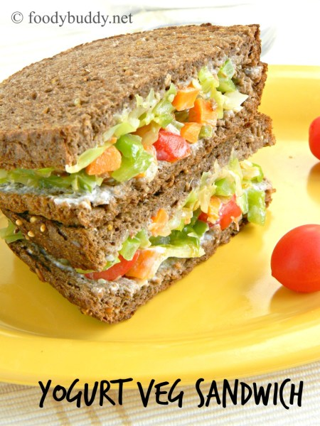 yogurt veg sandwich