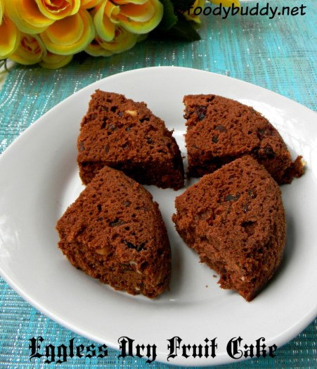 eggless dry fruit cake recipe