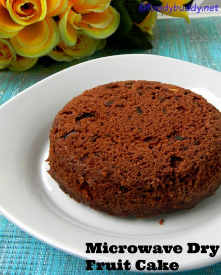 Microwave Dry fruit cake Recipe
