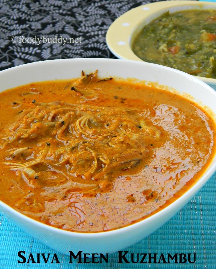 Saiva Meen Kuzhambu Recipe / Vazhaipoo Kuzhambu