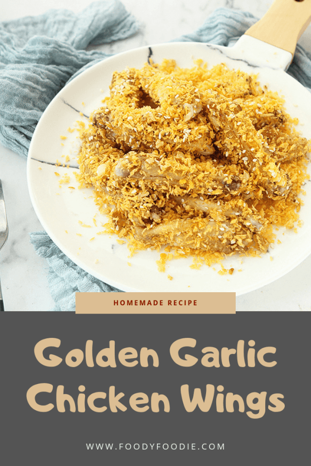 Golden Garlic Chicken Wings recipe