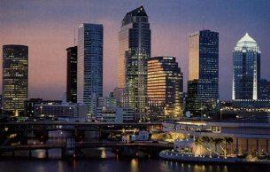 Tampa Skyline Dusk