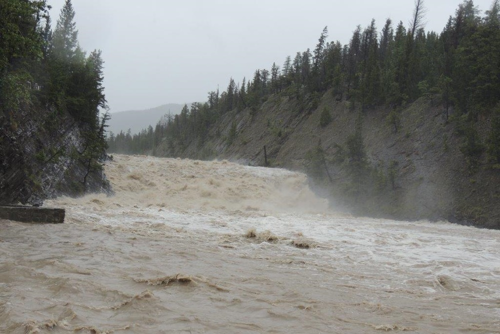 Banff River in Flood