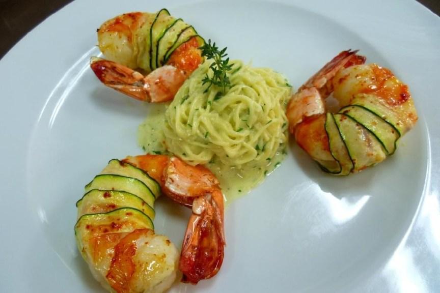 Zucchini Wrap Jumbo Shrimps Franck Garanger