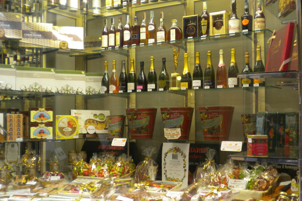 Food display in Cremona
