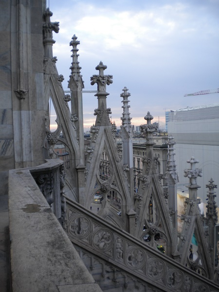 Spires on Milan carthedral