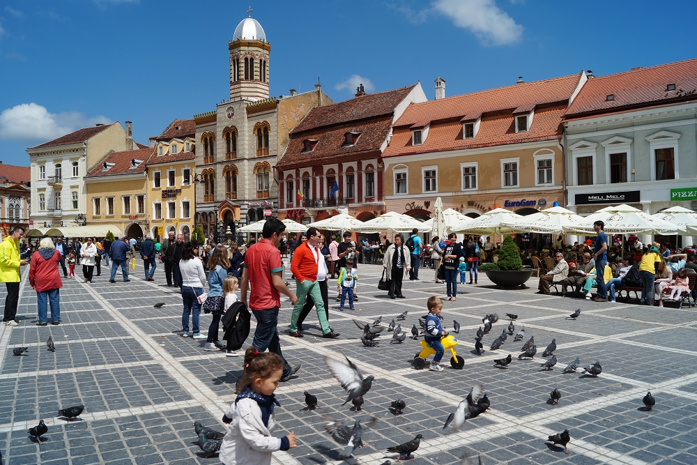 Brasov Town Square Romania