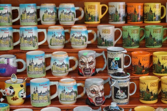 Souvenir mugs Romania
