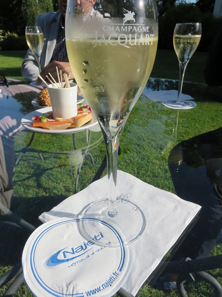 Clery champagne on the lawn