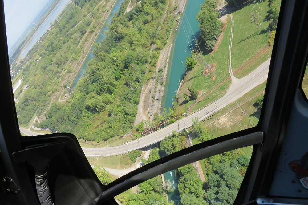 Niagara helicopter stomach lurching moment