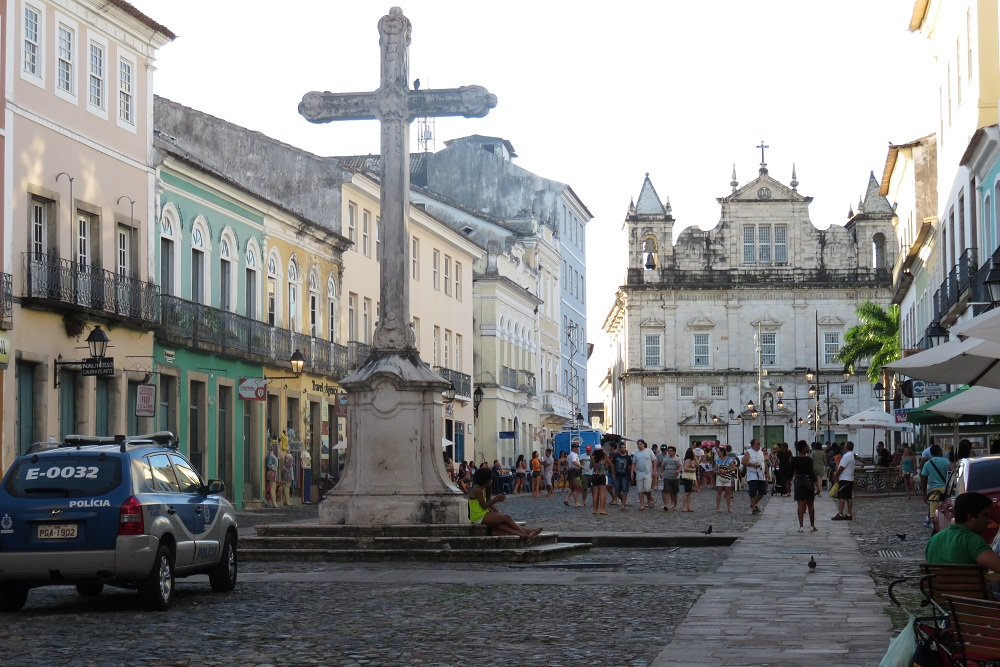 Salvador 3a Glittering Church looking towards church of Sao Francanciso Pelourinho District