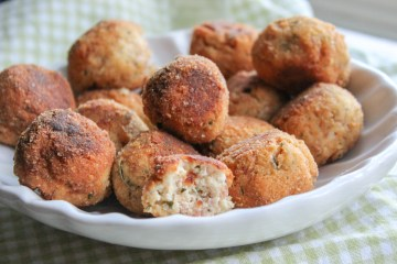 Proscuitto, Mint Cheesballs