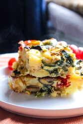 Baked Veggies and Potato Omelette