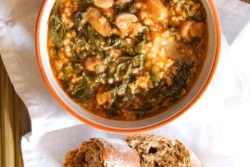 Spinach, Rice and Mushroom Recipe