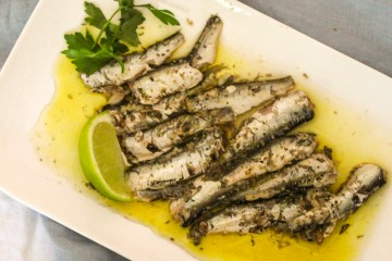 Roasted Lime and Olive Oil Marinated Sardines