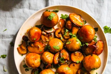 Mushrooms sauteed in Honey Balsamic Vinegar