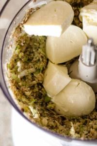 mozzarella, goat cheese, mushroom mix