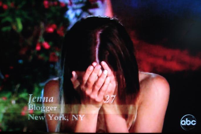 jenna blogger sobbing bachelor