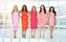 MARRIED TO MEDICINE HOUSTON -- Season:1 -- Pictured: (l-r) Rachel Suliburk, Ashandra Batiste Cumby, Elly Pourasef, Erika Sato, Monica Patel -- (Photo by: Michael Larsen/Bravo)