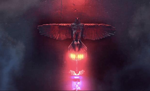 american gods opening credits bird totem