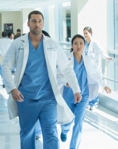 "NEW AMSTERDAM -- ""Pilot"" Episode 101 -- Pictured: Ryan Eggold as Dr. Max Goodwin — (Photo by: Francisco Roman/NBC)"