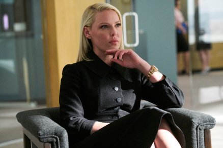 "SUITS -- ""Right-Hand Man"" Episode 801 -- Pictured: Katherine Heigl as Samantha Wheeler -- (Photo by: Ian Watson/USA Network)"