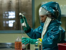 Dr. Nancy Jaax (Julianna Margulies) working in her pathology lab. (National Geographic/Amanda Matlovich)