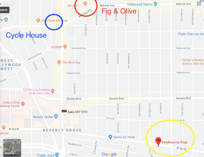 Melrose Beverly Hills Real Housewives Map