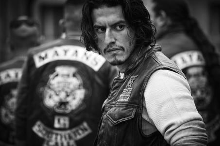 "MAYANS M.C. -- Pictured: Richard Cabral as Johnny ""Coco"" Cruz. CR: James Minchin/FX"
