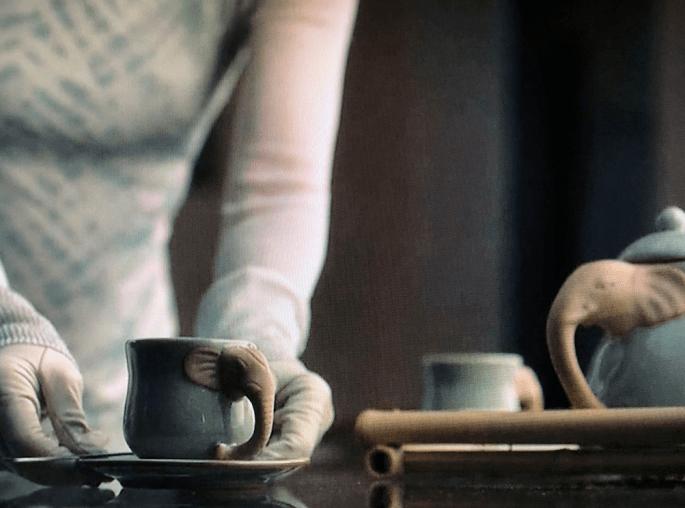 lady trieu watchmen elephant tea set