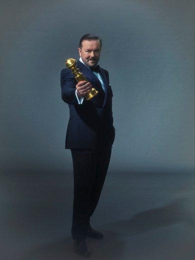 GOLDEN GLOBE AWARDS -- Season: 77 -- Pictured -- Ricky Gervais, Host-- (Photo by: Todd Antony/NBC)