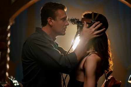 Jason Segel as Peter, Eve Lindley as Simone - Dispatches from Elsewhere _ Season 1 - Photo Credit: Zach Dilgard/AMC