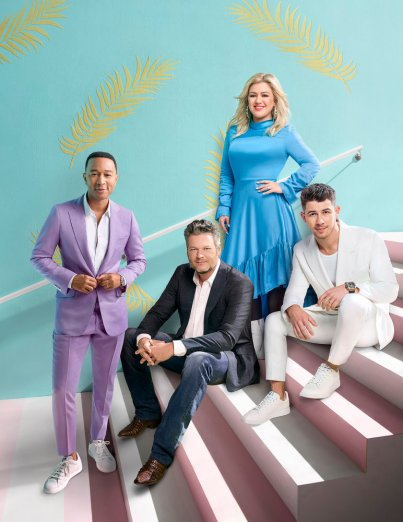 THE VOICE -- Season: 18 -- Pictured: John Legend, Blake Shelton, Kelly Clarkson, Nick Jonas -- (Photo by: Art Streiber/NBC)