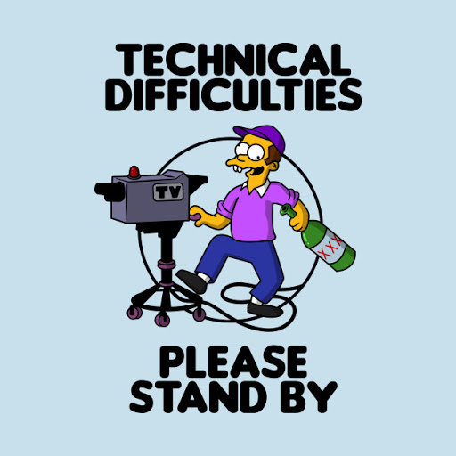 the simpsons technical difficulties drunk