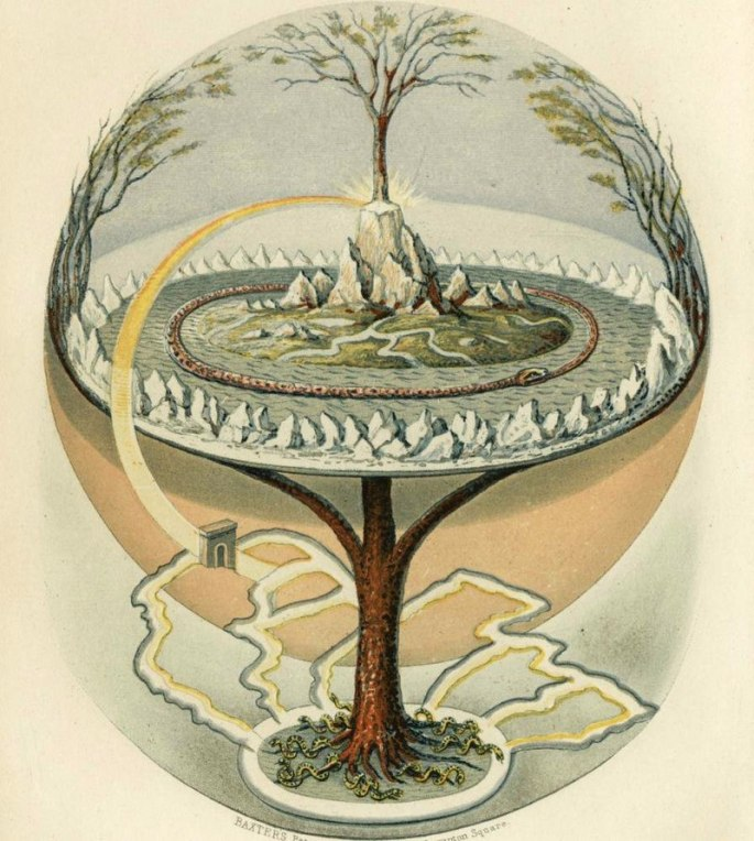 Yggdrasil underworld tree of life norse