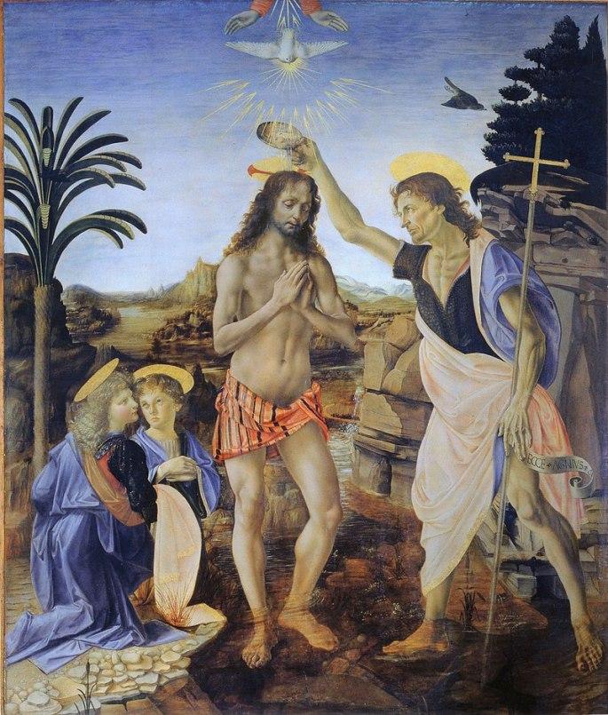 the baptism of christ verrochio
